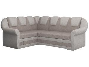 NABBI Latino II L rohová sedačka s rozkladom a úložným priestorom svetlohnedá / béžová