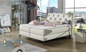 NABBI Lazio 180 čalúnená manželská posteľ s úložným priestorom béžová