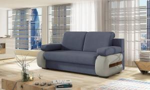 NABBI Limia rozkladacia pohovka modrá / svetlosivá