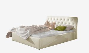 NABBI Monzo UP 180 čalúnená manželská posteľ s roštom béžová