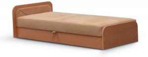 NABBI Pinerolo 80 L jednolôžková posteľ (váľanda) s úložným priestorom svetlohnedá