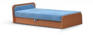 NABBI Pinerolo 80 L jednolôžková posteľ (váľanda) s úložným priestorom svetlomodrá