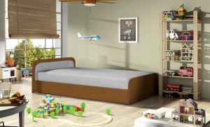 NABBI Pinerolo 80 L jednolôžková posteľ (váľanda) s úložným priestorom svetlosivá