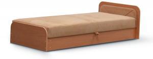 NABBI Pinerolo 80 P jednolôžková posteľ (váľanda) s úložným priestorom svetlohnedá