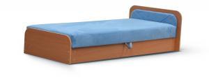 NABBI Pinerolo 80 P jednolôžková posteľ (váľanda) s úložným priestorom svetlomodrá