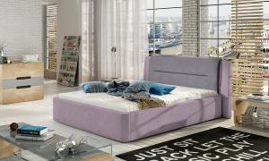 NABBI Portima 160 čalúnená manželská posteľ ružová / fialová