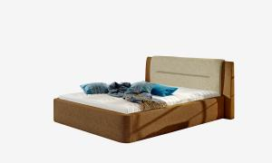 NABBI Portima 180 čalúnená manželská posteľ tmavohnedá (Dora 26) / béžová (Dora 21)