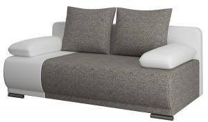 NABBI Real rozkladacia pohovka s úložným priestorom sivá / biela