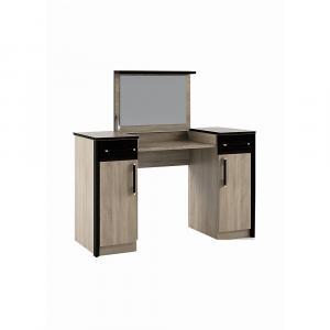 NABBI Seina DT toaletný stolík so zrkadlom dub sonoma / wenge magic