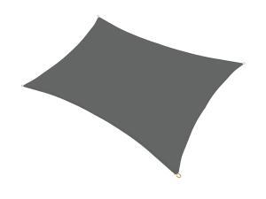 NABBI Square tieniaca plachta 400x300 cm antracit