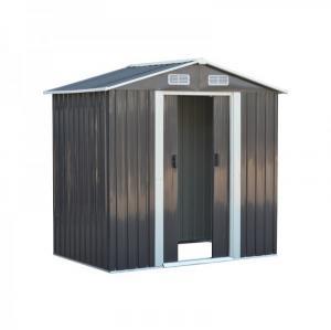 NABBI Toolster plechový záhradný domček 125x195x197 cm sivá