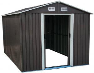 NABBI Toolster plechový záhradný domček 312x257x202 cm sivá