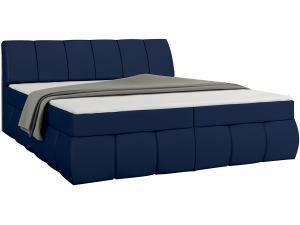 NABBI Vareso 180 čalúnená manželská posteľ s úložným priestorom modrá (Soft 09)