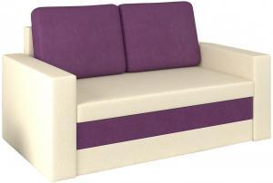 NABBI Wilo rozkladacia pohovka s úložným priestorom krémová / fialová