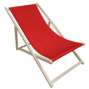 NABBI Zanzi plážové lehátko červená