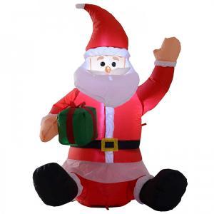 Nafukovací Santa sediaci LED - 120cm