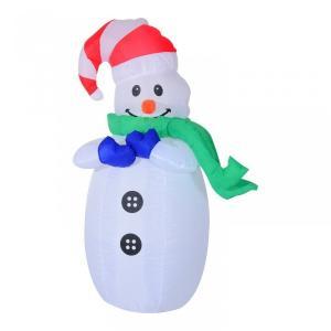 Nafukovací snehuliak LED - 120cm