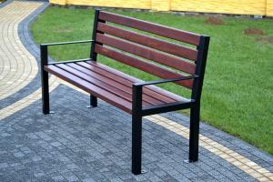 NaK Parková lavička LUX s opierkami 150 cm