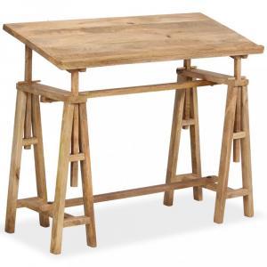 Náklopný kresliaci stôl mangovníkové drevo Dekorhome