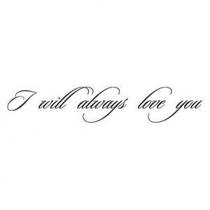 Nálepka - I will always love you  _ttx22