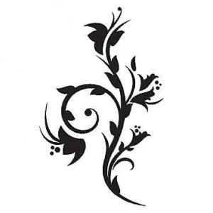 Nálepka Kvetinový ornament _ch64