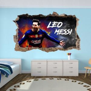Nálepka na stenu 3D Lionel Messi 120 x 72 cm