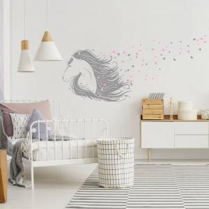 Nálepka na stenu - Koník