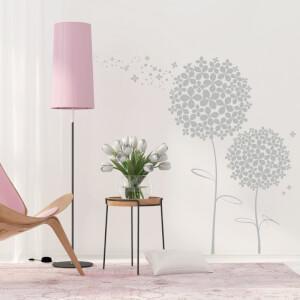 Nálepka na stenu - Kvetinová púpava