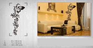 Nálepka na stenu KVETY NAK056 50x100 cm – čierna farba