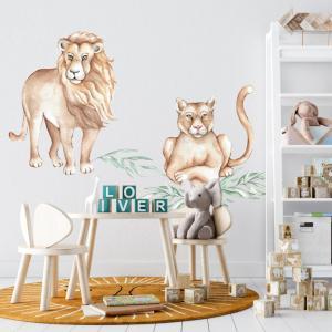 Nálepka na stenu - Levy z divočiny