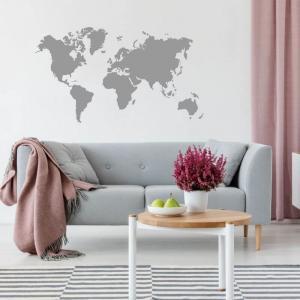 Nálepka na stenu - Mapa sveta