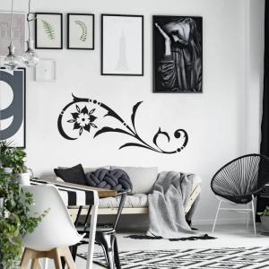 Nálepka na stenu - Ornament do obývačky abstrakt