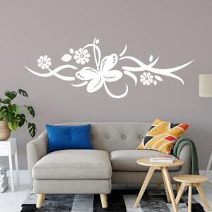 Nálepka na stenu - Ornament s motýľom