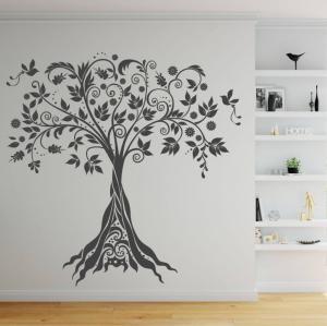 Nálepka na stenu - Ornamentový strom