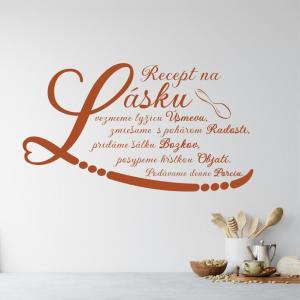 Nálepka na stenu - Recept lásky
