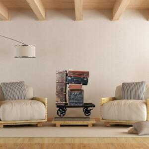 Nálepka na stenu - Retro vozík