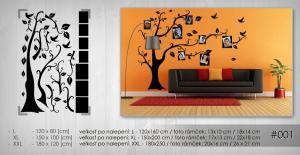 Nálepka na stenu RODOSTROM 100X150 cm NARS001 - tmavo hnedá