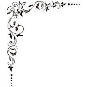 Nálepka na stenu Rohový dekor _fl5-188