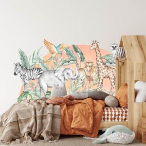 Nálepka na stenu - SAFARI za posteľou
