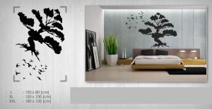 Nálepka na stenu STROM NAS086 120x180 cm – čierna farba
