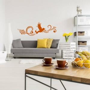 Nálepka na stenu - Vtáčí ornament
