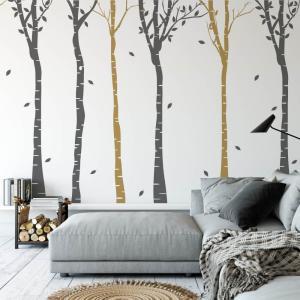 Nálepka na stenu - Vysoké stromy do chodby