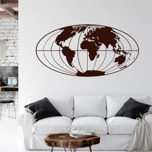 Nálepka na stenu - Zemeguľa