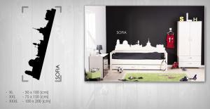 Nálepka na stenu Zľava 20 %  SOFIA 75x150 cm NAME044/24h - čierna farba