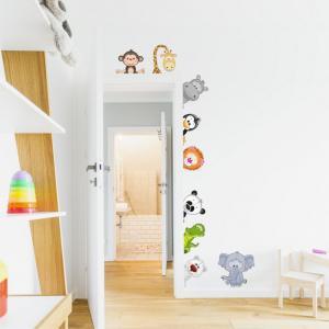 Nálepka na stenu- Zvieratká zo ZOO okolo dverí