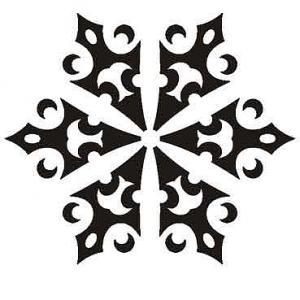 Nálepka Snehová vločka sn94