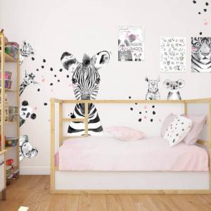 Nálepka - Veľká zebra v čiernobielej