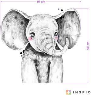 Nálepka - Veľký slon v čiernobielej