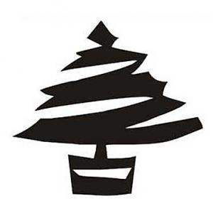 Nálepka - Vianočný stromček - V1