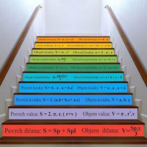 Nálepky na schody - Geometria a vzorce